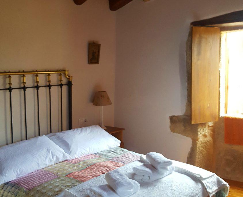 suelo de madera en casa rustica en ribeira sacra